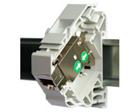 DIN rail connector